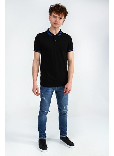 Collezione Collezione Polo Yaka Kısa Kol  Erkek T-Shirt Siyah
